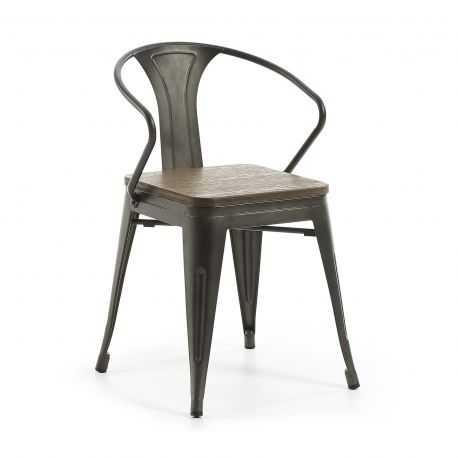 Chaise MELBOURNE métal/bambou