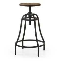 Tabouret de bar MELBOURNE hauteur 65 cm