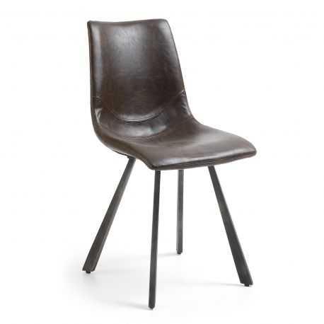 Chaise COLOMBIA pied acier noir