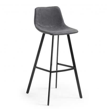 Tabouret DAPPER hauteur d'assise 80 cm coloris gris et bleu