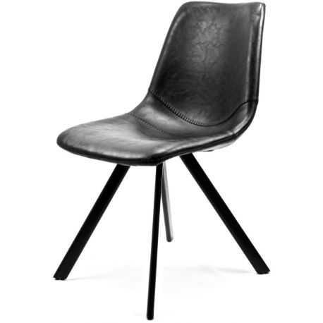 Chaise cuir noir corsa