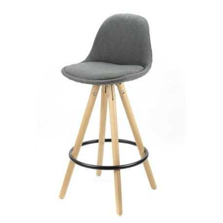 Tabouret COUTURE Hauteur 65 cm mi-hauteur coloris gris marron