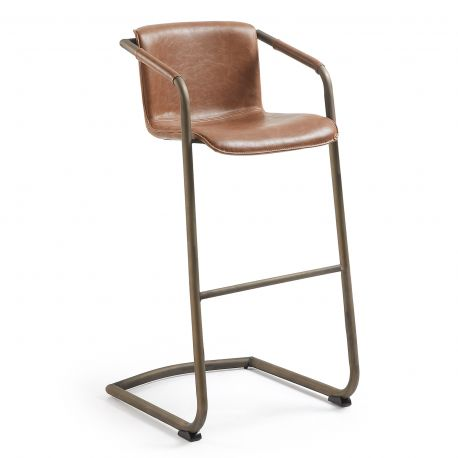 Tabouret bar TRION marron