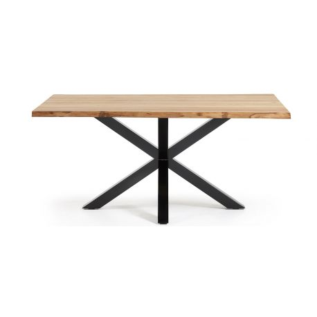 Table Pied Central Design Soren Plateau Bois Massif De Chene
