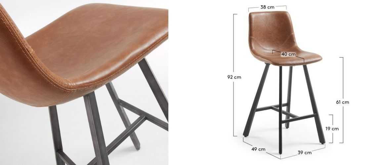 Tabouret de bar hauteur 60 cm colombia tabouret 60 cm cuir - Tabouret de bar hauteur 60 cm ...