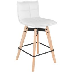 Tabouret hauteur 65 cm JAMES pieds chene massif