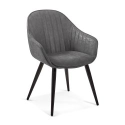 Fauteuil HENNI cuir synthetique