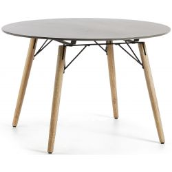 Table de jardin ronde FOSTY plateau beton