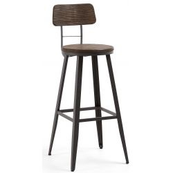 Tabouret de bar MELBOURNE avec dossier