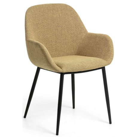 Chaise avec accoudoirs MANY en tissu