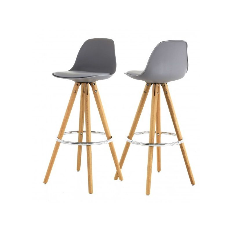 tabouret de bar type scandinave hann pieds ch ne coque plastique. Black Bedroom Furniture Sets. Home Design Ideas