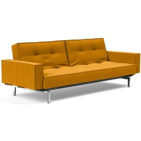 Canapé-lit Splitback Chrome avec accoudoir