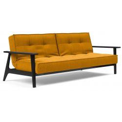 Canapé-lit Splitback Frej accoudoirs noir