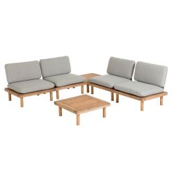 Salon de jardin 4 places KODA + 2 tables basses
