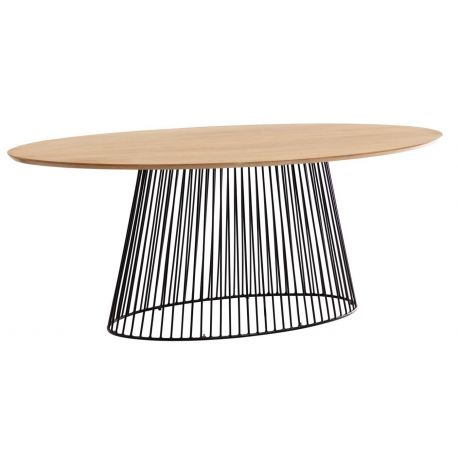 Table ovale pied central HURRICANE 200x110 cm