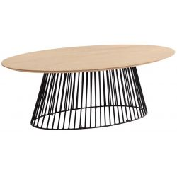Table table basse ovale HURRICANE 120x65 cm