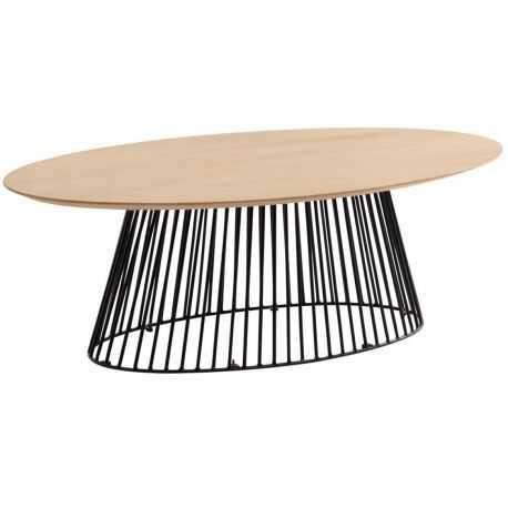 Table table basse ovale HURRICANE 120x65 cm