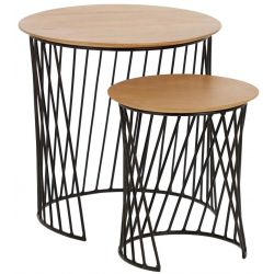 Set de 2 tables basses ronde HURRICANE