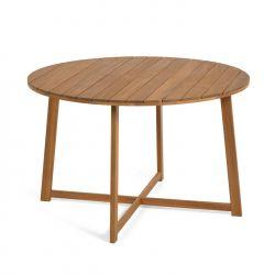 Table de jardin ronde Daphnée en bois massif d'acacia 120 cm