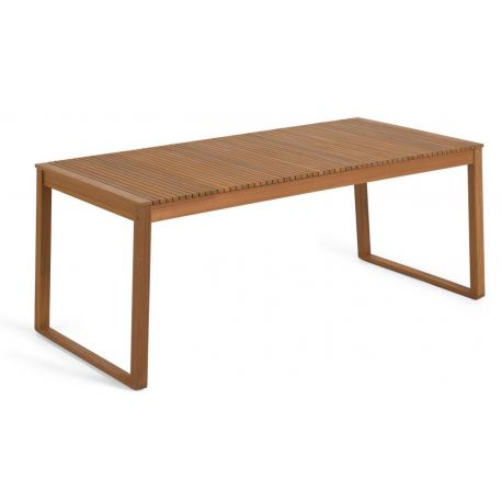 Table de jardin Emilien en bois massif d'acacia de 190x90 cm
