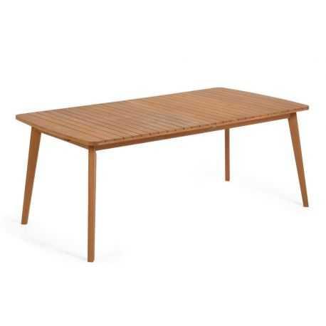 Table de jardin extensible Gretel en bois massif d'eucalyptus 183 (240) x100 cm