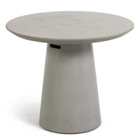 Table de jardin Betai en ciment de 90 cm