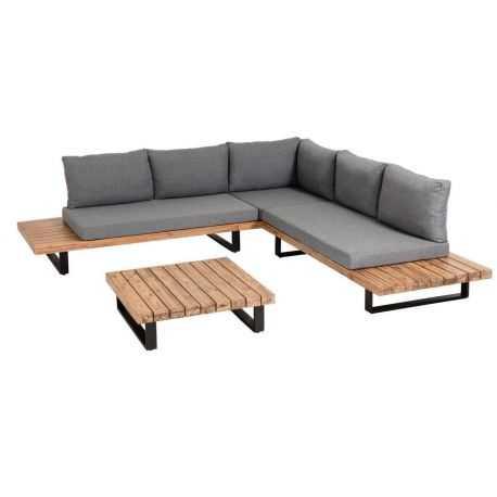 Ensemble Malika canapé d'angle 5 places et table