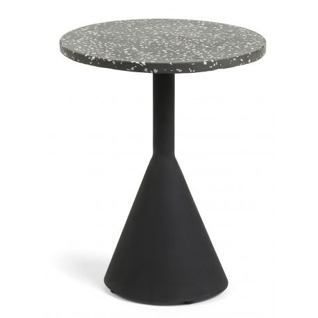 MOLINA Table d'appoint terrazzo noir
