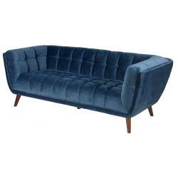 Canapé en velour 3 places WINSTON