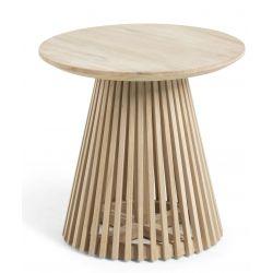 Table d'appoint de jardin VARGA teck D.50 cm