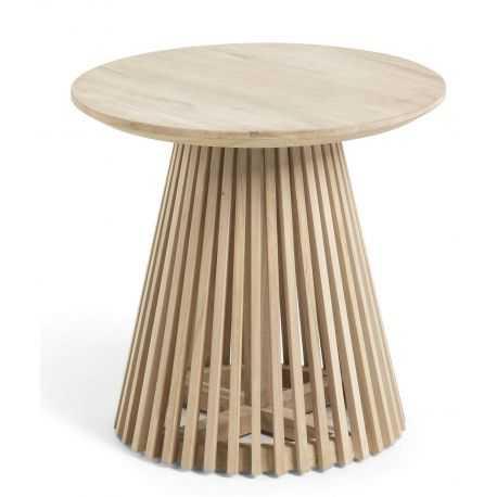 Table basse de jardin VARGA teck diamètre 50 cm