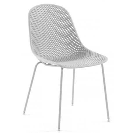 Chaise de jardin jaune gris blanche et beige WEST